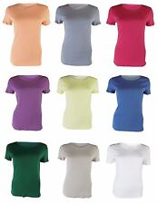 Ex M&S Ladies Classic Top T-shirt Cotton short sleeve Crew Neck Brand New