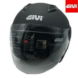 Motorcycle Helmet Jet IN Thermoplastic GIVI 12.3 Stratos Solid Color Matte Black