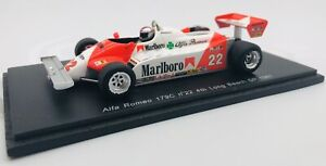 Spark 1/43 Alfa Romeo  179c #22 4th Long Beach GP 1981 M. ANDRETTI S3873