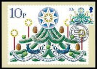 GB UK MK 1980 WEIHNACHTEN CHRISTMAS NOEL WEIHNACHTSBAUM MAXIMUMKARTE MC CM dt21