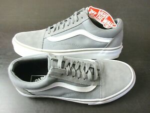 Vans Womens Old Skool Frost Grey True White Canvas Suede shoes Size 9.5 NWT