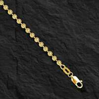 "14k Yellow Gold BEAD BALL Link Pendant Chain Necklace 4 mm 32"" 43 grams  BD4N"