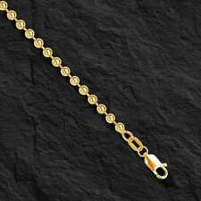 "14k Yellow Gold BEAD BALL Link Pendant Chain Necklace 3 mm 18"" 12 grams  BD3N"