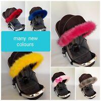 Joie stroller Pram Fur Hood Trim  Pram Pushchair Carrycot Buggy Universal Fit