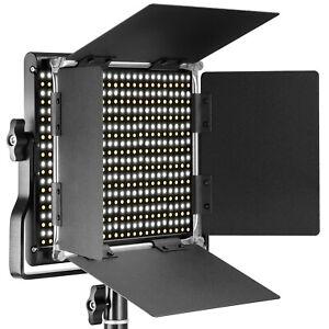 Neewer Professional 660 Beads Metal Bi-color LED Video Light with U Bracket