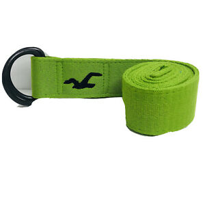 Hollister Co. AE AF Thick Heavy Cotton Neon Green Cargo Belt Buckle Strap (28)