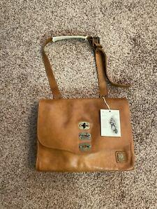 Belstaff Leather Messenger Bag Brown