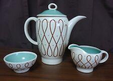 Susie Cooper Elegance Pattern Teapot Creamer Sugar Bowl Set