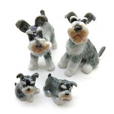 Schnauzer Dog Family Figurine Animal Ceramic Statue - CDG186