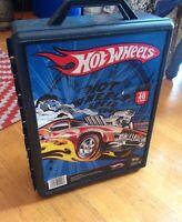 Vintage Hot Wheels Carrying Tara Toy Corp Black Box 48 Car Storage Case *WoW*