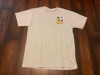 US Navy Blue Angels F A 18 Hornet Combat Jet Aircraft Gray T-shirt Sz XL