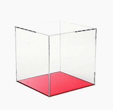 More details for acrylic display cube perspex trophy display case transparent 5 sided box