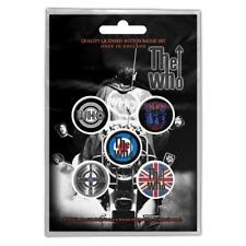 More details for official licensed - the who - quadrophenia 5 badge pack rock daltrey mod