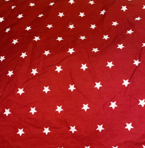Pottery Barn Kids Twin Duvet Red White Stars Nice