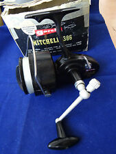 A GOOD BOXED VINTAGE MITCHELL 386 SALT WATER SPINNING REEL