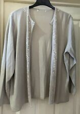 Embellished Beige Cardigan Size 20-22