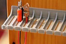 Cable de prueba de clavija de punta cónica Enchufe Pinza Cocodrilo Sonda de Prueba de plomo titular 13.5 cm Plata