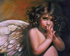 Home Art Wall Decor Whisper Of An Angel Oil Painting Picture Printed On Canvas