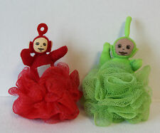Vintage 1999 Teletubby Ragdoll - Set of 2 -- Dipsy and Po - Hang for display