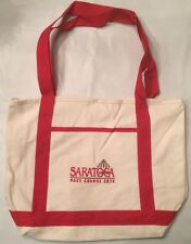 SARATOGA RACE TRACK /  RACE COURSE - 2014 White Canvas Tote Bag - New / Unused