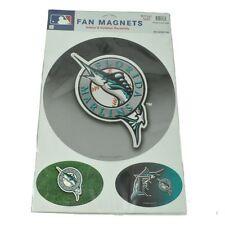 MLB Baseball Florida Marlins Jumbo Large Indoor Outdoor Fan Magnets Set of 3