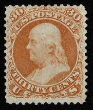 Scott#71 30c Benjamin Franklin 1861 Mint No Gum