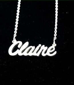 Personalised Font Name Necklace,925 Silver,18K Gold-Rose Gold plated,HANDMADE !