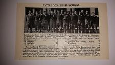 Lynbrook High School & Lawrence High School New York 1927 Football Team Picture