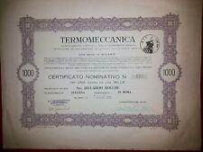 TERMOMECCANICA la Famiglia  Mastai (Papi) nella Finanza 1 Az. 1949