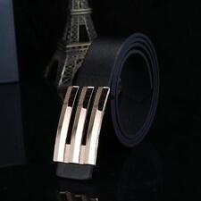 Men Women Automatic Buckle Leather Waist Strap Belts Buckle Belt