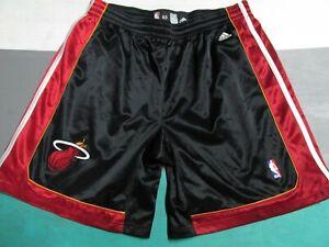 Authenic 2007-2008 Miami Heat Adidas Basketball Shorts Jersey Size 40 SEWN