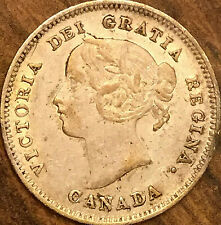 1900 CANADA SILVER 5 CENTS COIN - Narrow 00 - Excellent example!
