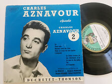 "CHARLES AZNAVOUR Chante...FRANCE 10"" LP DUCRETET THOMSON 1950's VINYL"