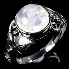 Vintage Natural Moonstone 925 Sterling Silver Ring Size 7/R111453