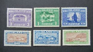 EARLY ISLAND ICELAND 3AUR TO 50AUR VF MLH B314.31 START $0.99