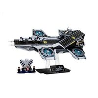 The SHIELD Helicarrier acrylic display stand for Lego model 76042