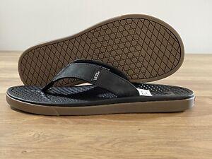 Vans UltraCush SeaEsta Leather Sandal Black/Gum Men's SZ 9 ( VN0A5HF7B9M )