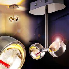 LED Lámpara de techo diseño cromo focos ajustables salón dormitorio pasillo