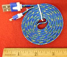 Blue Braided 6FT Charging Cable for IPhone 5, 5S, 6, or 6+...Buy It Now Special