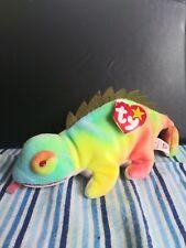 Ty Beanie Babies - Iggy the Iguana - Rainbow's colors