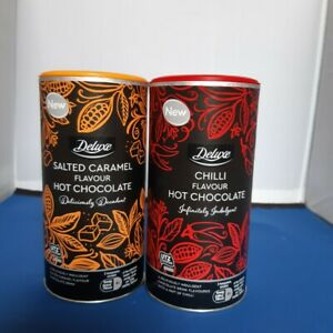 Deluxe Hot Chocolate Drink Salted Caramel or Chilli 350g NEW SHIPS WORLDWIDE