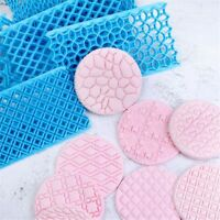 Quilting Decor Icing Texture Fondant Cake Embosser Mold Flower Cookie Cutter New