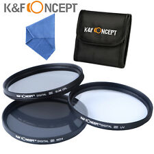 58mm Filter Kit UV CPL Polarizer FLD + ND4 Set for Canon Nikon Sony K&F Concept