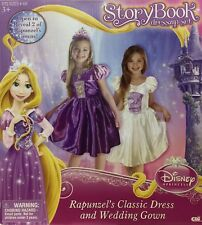 Disney Princess RAPUNZEL Tangled Dressup Set Wedding Dress Size 4-6x Storybook