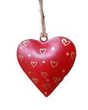 BNWT Namaste Small Metal Heart Christmas Decoration!!
