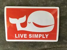 Patagonia Live Simply Whale sticker decal 2�x3� Weatherproof
