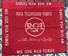 1940-50s+RCA+Television+TV+Tubes+Red+Advertising+Banner+47x+40%E2%80%9D