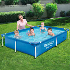 Bestway Swimming Pool 221x150x43 cm Schwimmbecken Schwimmbad Stahlwandbecken