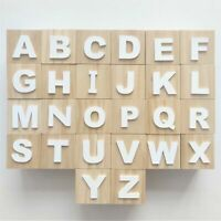 Square Wood Cube Alphabet 26 Letter A-Z Building Block Game Baby Montessori Toys