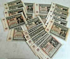 THIRD REICH BANKNOTES German 5000 MARK banknotes 1922